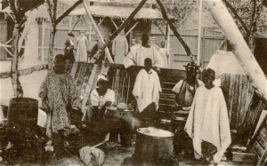 On display: the Congo village or Kongolandsbyen at the World's Fair in Oslo in 1914