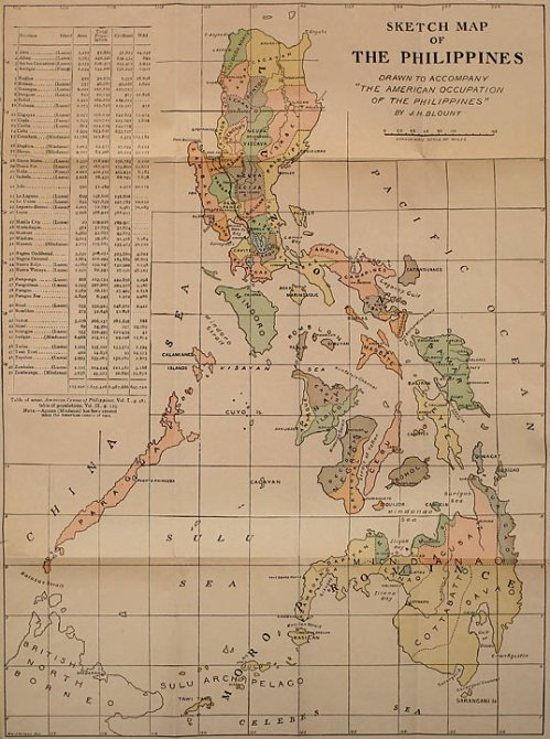 Sketch Map of the Philippines Showing Bontoc in the far north